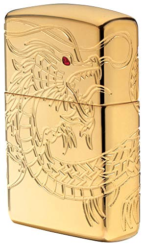 Zippo Sturmfeuerzeug 60002847 Dragon Multi Cut - Armor High polish Gold Plate with Epoxy Inlay - Special Editions 2016/2017