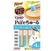チャオ (CIAO) 猫用おやつ Pureちゅ~る かつお かつお節入り 14g×4本