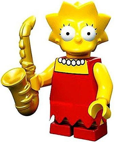 The Simpsons Lego Mini Figure Lisa