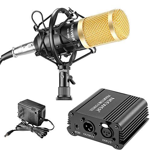 Neewer NW-800 Microphone & Phantom Power kit: (1)NW-800 Microphone+(1)48V Phantom