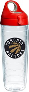 Tervis NBA Toronto Raptors Primary Logo Tumbler with Emblem and Red with Gray Lid 24oz Water Bottle, Clear