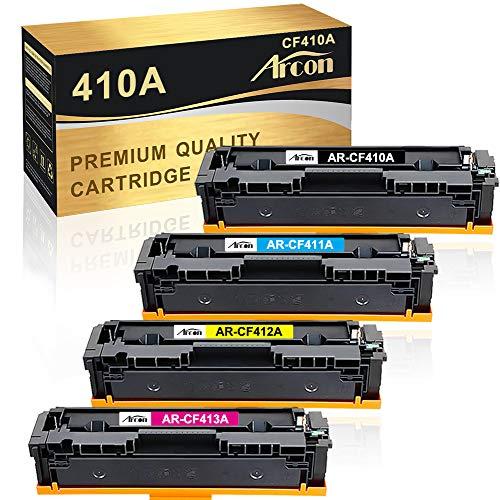 Arcon Kompatibel Toner Cartridge Replacement für HP CF410A CF410X 410A 410X HP M477FDW HP Color Laserjet Pro MFP M477FDW M377DW M477FDN M477FNW M452DN M452NW M452DW M477 M452 M377 CF411A CF412A CF413A