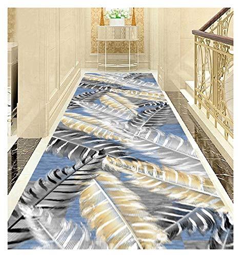 ditan XIAWU Nachtteppich Schlafzimmer Wohnzimmer rutschfest Gang Kann Geschnitten Werden (Color : A, Size : 80x400cm)