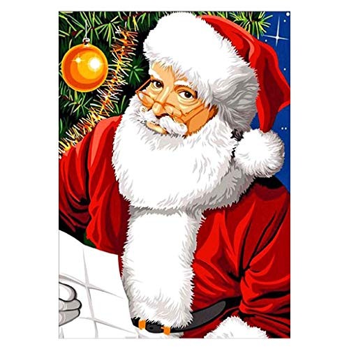 Weihnachtsmann DIY 5D Vollbohrer Diamant Malerei Stickerei Kreuzstich Kit Strass Kristall Dekoration Handwerk