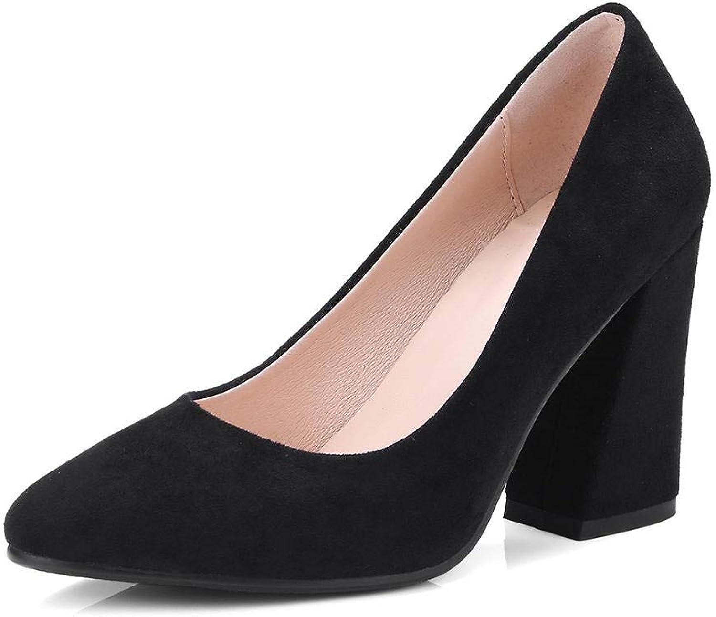 MENGLTX 2019 Plus Größe 34-43 Elegante Herde Partei Frauen Schuhe Frühling High Heels Sommer Slip auf Lady Pumps Frau