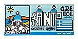 DONSOUVENIR MAGNETICO Santorini. Modelo: Islas GRIEGAS - Big