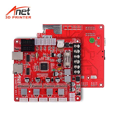 Anet Mainboard A1284 Base V1.7 Hauptplatine für Anet A8 Plus DIY Selbstmontage 3D Desktop Drucker RepRap i3 Kit Upgrade Supplies 24V