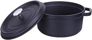 Le Creuset Evolution - Cocotte Redonda, de colado, 24cm, Cocotte redonda Cazuela de hierro fundido con pomo de acero inoxidable,Black