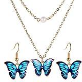 hangzhoushiJacob Elsie - Colgante de mariposa, collar, gargantilla, collar, collar, accesorios