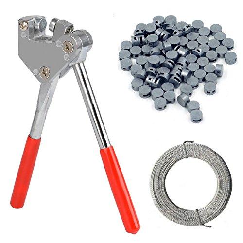 Plombenzange 16,5 cm, geeignet für Bleiplomben Ø 8mm + Ø 10mm, inkl. Zubehör 500 Bleiplomben 8 mm sowie 100 m Plombendraht