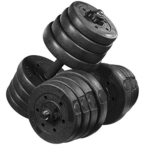 MOVTOTOP 66.14 LBS Adjustable Dumbbell Set,【2020 Newest】 Multiple Dumbbell Weights Set for Men,Women, Beginner, Non-Slip Durable Dumbbell/Barbell set for Home Workout, Exercise, Fitness, Gym, Training
