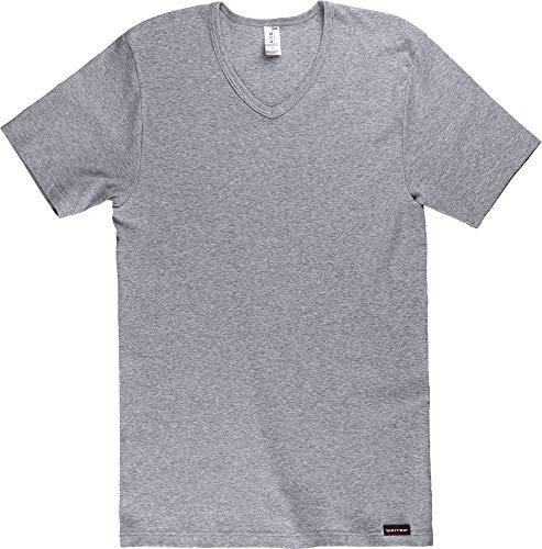 CiTO Herren-Unterhemd, 1/2-Arm Silber Größe 6