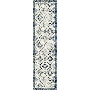 Distressed Area Rugs Blue Hallway Runner Rugs, Runner Rug for Hallway 2x8
