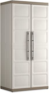 KETER | Armoire haute XL EXCELLENCE, Sable/Terre, Cabinets, 89x54x54x182 cm