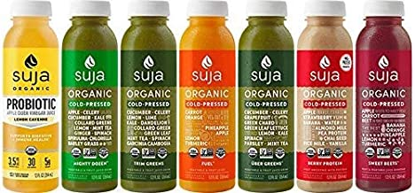 Suja Juice Organic Cold-Pressed Juice, 3 Day Cleanse, 12 Fl Oz (Pack of 21), 100% Planted-Powered Vegetable & Fruit Juice, Vegan, Gluten-Free, Non-Gmo, Made In Usa