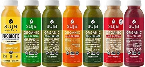 Suja Juice Organic Cold-Pressed Juice, 3 Day Cleanse, 12 Fl Oz (Pack of 21), 100% Plant-Powered Vegetable and Fruit Juices, Vegan, Gluten-Free, Non-GMO, Made In USA