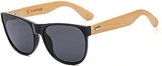 SUERTREE Bamboo Sunglasses Vintage Shades Retro Wooded UV400 Protect Rimless Eyeglasses JH8004