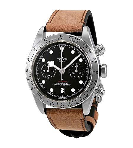 Tudor Heritage Black Bay M79350-0002 - Reloj automático de cuero para hombre
