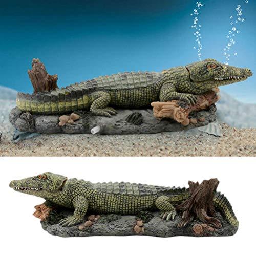 ZHTY Aquarium Dekorationen Simulation Krokodil Schimmel Harz Dekoration für Air Stone Aquarium Aquarium Dekor Langlebiges Aquarium Zubehör