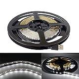 5V USB LED luce di striscia 5m SMD 3528con 3m di nastro adesivo per TV computer retroilluminazione 5M,3528,Non-waterproof Cool White 6000-6500k
