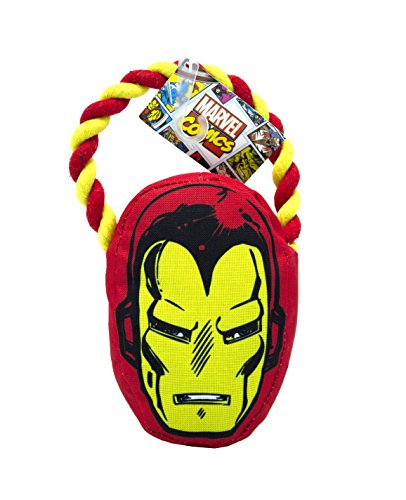 Marvel Comics for Pets Iron Man Rope Pull Toy for Dogs | Super Hero Toys for All Dogs and Puppies | Cute, Fun, and Adorable Dog Toys, Officially Licensed by Marvel Comics for Pets