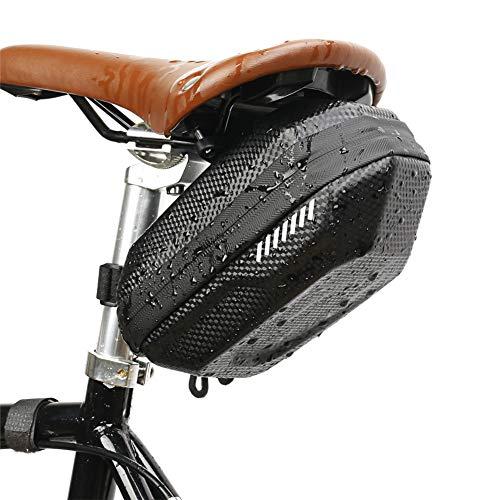 LFONCE Bolsa de sillín de bicicleta, bolsa de almacenamiento impermeable para asiento de bicicleta, bolsa de almacenamiento para debajo del asiento, bolsa de ciclismo bolsa de montaña rígida