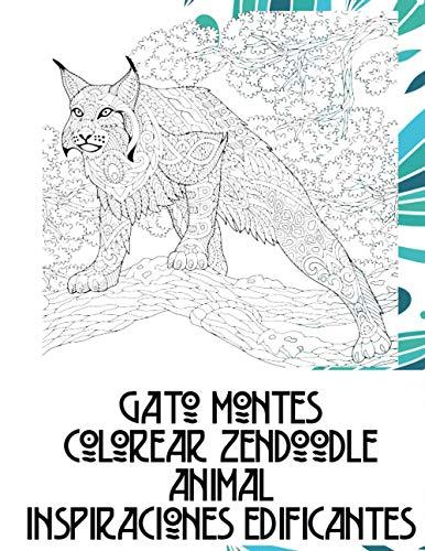 Colorear Zendoodle - Inspiraciones edificantes - Animal - Gato montés