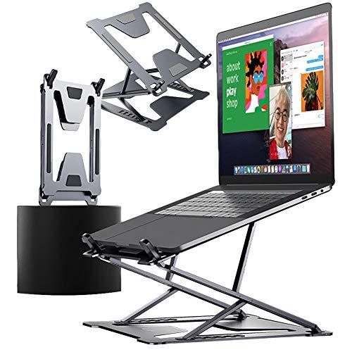 DSMGLRBGZ Soporte Monitor, Laptop Stand Soporte Laptop Doble Regulación Estabilidad Pliegue Disipación De Calor Antideslizante para Aliviar El Dolor Postura Saludable Juego,A