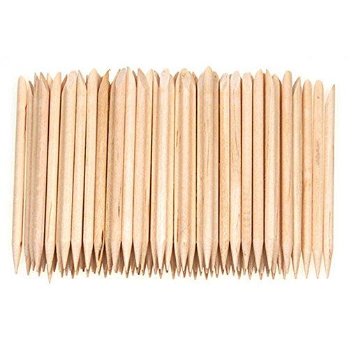 100pcs legno bastoncini per manicure cuticola pusher Remover Pedicure Nail Art