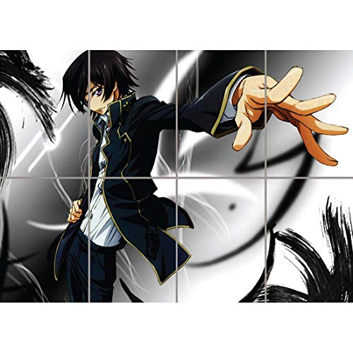 Code Geass Lelouch Zero Anime Manga Wall Art Multi Panel Poster Print 47x33 inches