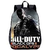 Mochila Infantil con 3D Bolso de Escuela Adolescente Call of Duty Black Ops II Adecuado para: estudiantes de primaria y secundaria, la mejor opción para viajes al aire libre Tamaño: 45x30x15 cm / 1