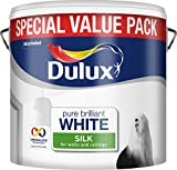 Dulux Silk Smooth and Creamy Emulsion Paint for Use on Walls/Ceilings,...