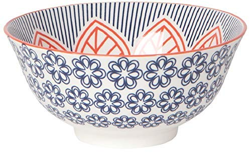 Now Designs, Bowl Stamped Red Floral 6 Inch
