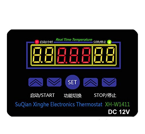 DollaTek DC 12V 10A Multifunktions-Digital-LED-Temperaturregler Thermostat-Steuerschalter -19-99 ℃ mit Sensor-Sonde