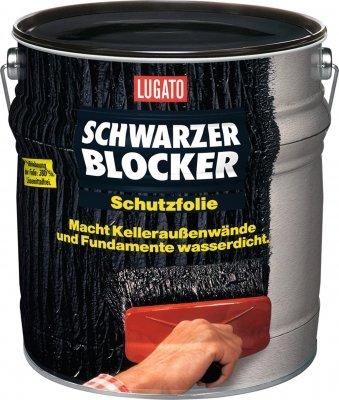 Lugato Schwarzer Blocker Schutzfolie 2,5 l - Wasserdichter, flexibler Bitumenanstrich
