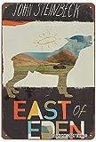 john steinbeck east of eden 20,5 x 30,5 cm in latta effetto vintage decorazione poster per casa, cucina, bagno, fattoria, giardino, garage, citazioni ispiratorie decorazione da parete