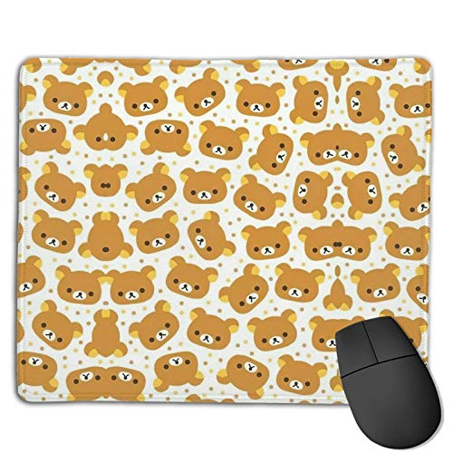Yay Rilakkuma!- Mouse Pad with Stitched Edge, Premium-Textured Mouse Mat, Non-Slip Rubber Base Mousepad for Laptop, Computer & Pc