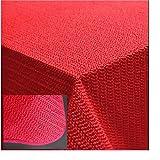 Tischdecke 130x160 cm Gartendecke Rot mit Saum abwaschbar Gartentischdecke Balkon Terrasse wetterfest (Rot)