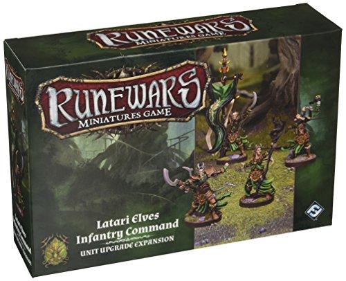 Fantasy Flight Games FFGRWM15 Runewars: Latari Elves Infantry Command Unit Upgrade Expansion,...