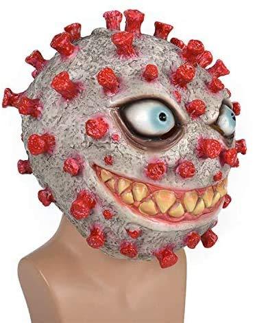 Aiyee Halloween Corona Cosplay Mask Helmet Cosplay Mask for Boys Men Halloween (Red)