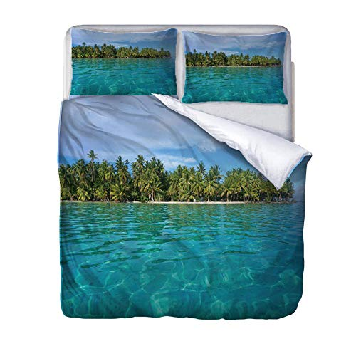 zzqxx Home Superking Duvet Cover Set natural scenery Bed Set Quilt Cover with Zipper Soft 100% Polyester Includes 2 Pillow Cases 3D Printed Bedding for Boys Girls Adults 260x220cm