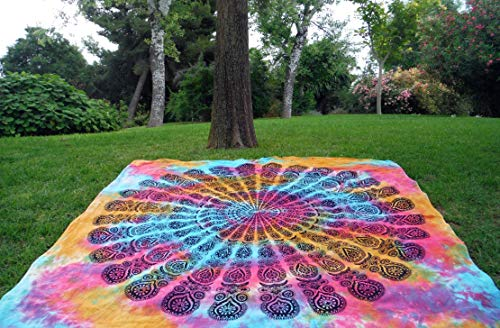 Mandala Multicolor Dibujos 210x240 Suave Playa Toalla casa (Multicolor B)