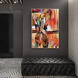 Decoración Decoraciones Regalos Pintura al óleo abstracta Mujer Arte corporal Paisaje Lienzo Pintura Carteles modernos Impresiones Cuadros de pared para sala de estar Decoración del hogar-60x90cm_