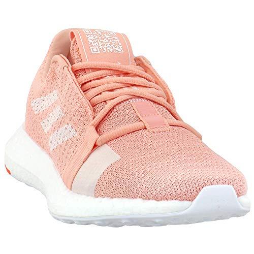 adidas Senseboost Go Tenis para correr para mujer, rosa (Brillo Rosa-Blanco-hi Res Coral), 36 EU ⭐