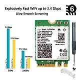 AX200 Next-Gen Wi-Fi 6 Network Card M.2 NGFF ax200ngw 160MHz 802.11ax/ac 2.4Ghz 5Ghz BT 5.0 MU-MIMO 2x2 OFDMA WLAN Card for Windows 10 Support vPro Miracast