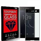 YISPIRIN [2 Piezas] Cristal Templado para Sony Xperia XA1, [Dureza 9H, Anti-Rasguño,3D Cobertura Completa] Fácil de instalar, Vidrio Templado Protector de Pantalla para Sony Xperia XA1