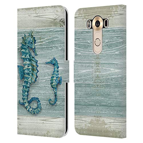 Head Case Designs Officially Licensed Paul Brent Seahorse Sea Creatures Leather Book Wallet Case Cover Compatible with LG V10