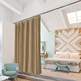 Room/Dividers/Now Ceiling Track Room Divider Kit - Large B, 9ft Tall x 6ft - 9ft Wide (Dusty Gold)