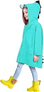 BBT-shop 2PCS Kids Raincoat Hooded Jacket Rainsuit Rain Poncho Raincoat Cover Long Rainwear Blue