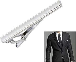 erioctry Men's Tie Clip Stainless Steel Metal Simple Necktie Tie Bar Clasp Clip Clamp Pins Sliver Color for Men Business&P...